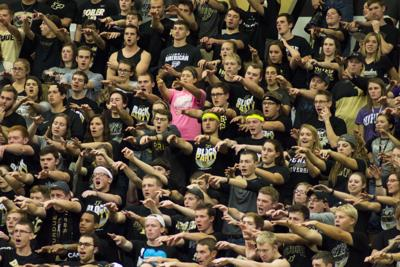 11/4/15 Volleyball vs Nebraska Block Party