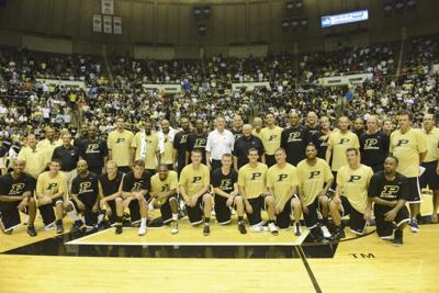 8/4/12 Basketball Alumni Game, Group Photo