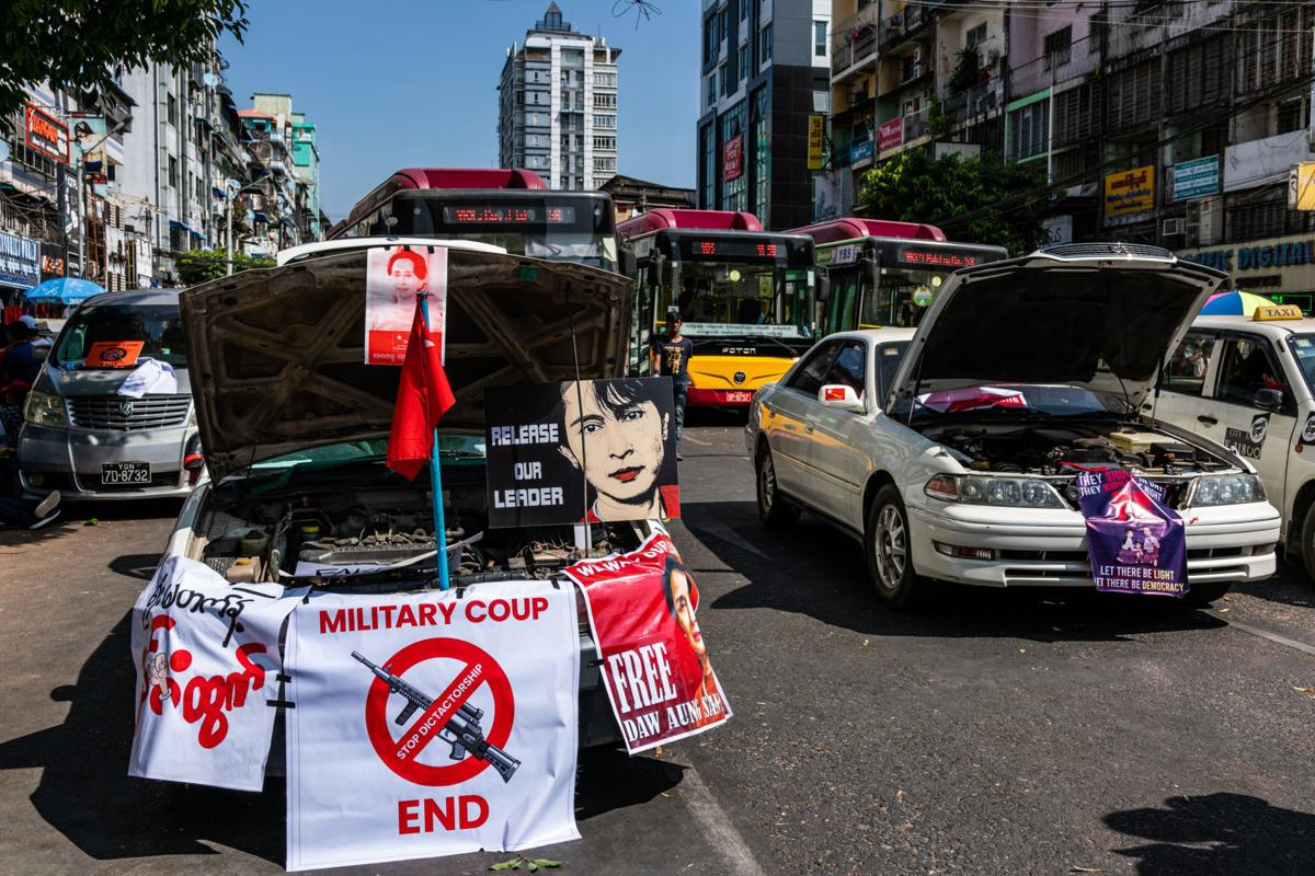 2/21/2021 Myanmar protest