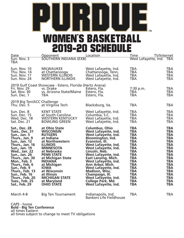 2019 20 Women S Basketball Schedule Basketball