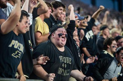 9/4/21 Purdue 13 Oregon State 7, Ross Ade Brigade celebrates a score
