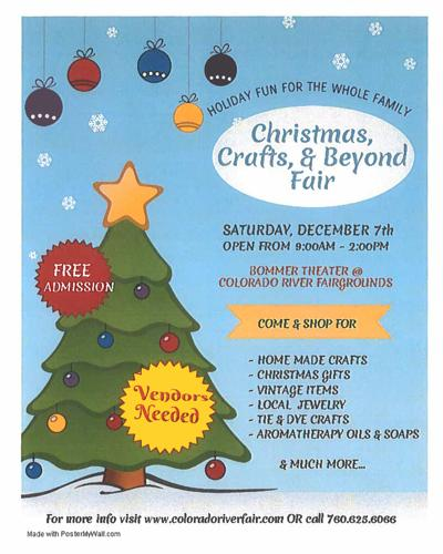 Colo. River 'Friends of the Fair' to host 2019 Craft Fair: Palo Verde Valley event to be held at the Fairgrounds Dec. 7