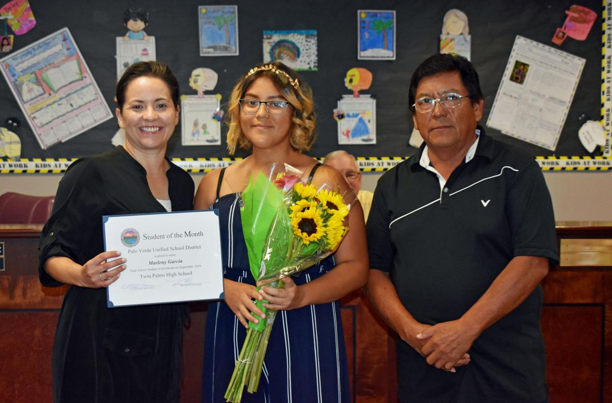 PVUSD awards Hancock and Garcia - Students of the Month