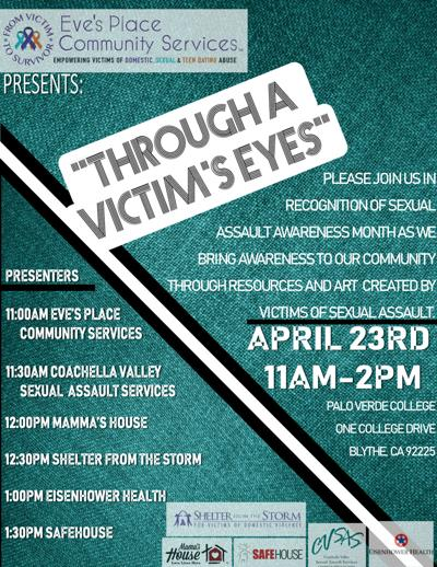 'Through a Victim's Eyes:' Eve's Place nonprofit to host event in observance of Sexual Assault Awareness Month, April 23