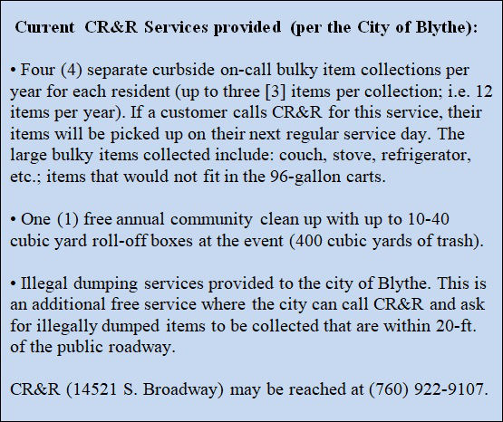 City approve plan to deter trash, illegal dumping: CR&R to clean alleys, council up fines, install reward system