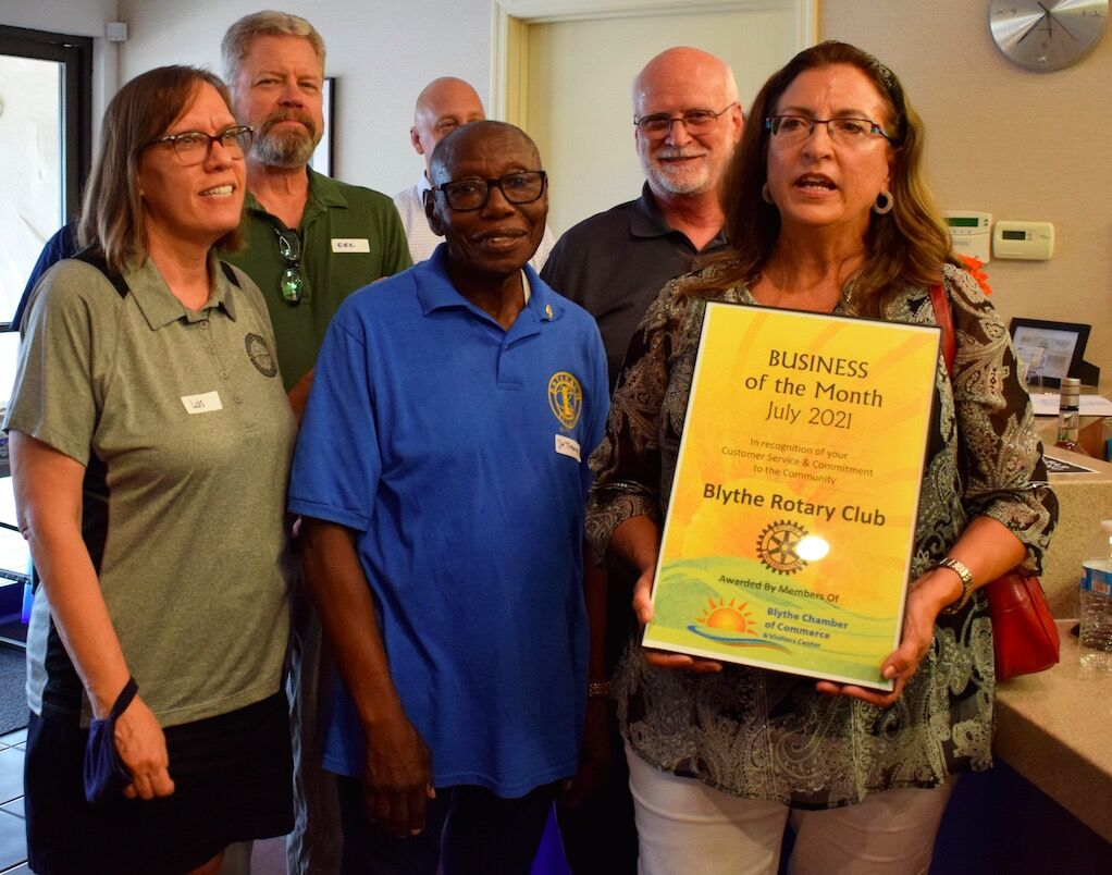 Faces & Places: Blythe Chamber hosts mixer at The Holt Group, honors Rotary as Business of the Month