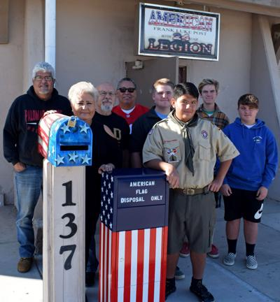 Blythe Boy Scout helps honor unserviceable U.S. flags: Community drop-off boxes now available