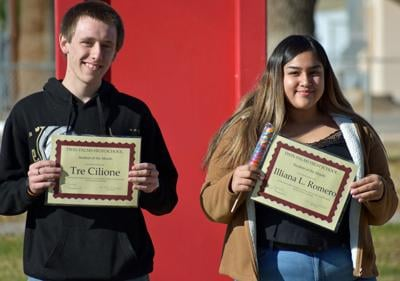 Twin Palms recognizes Students of the Month: Tre Cilione and Illiana Romero