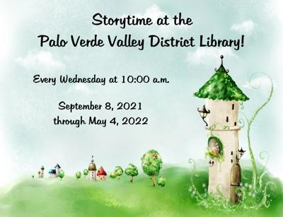 Palo Verde Valley District Library's Storytime program returns