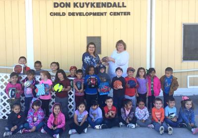 Child development center receives donation: Modern Woodmen of America Fraternal Financial gift youth equipment, materials
