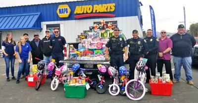 Blythe NAPA Auto donates $1.5K in toys to kids, foods for Harmony Kitchen: Local business launches annual tradition with first responders