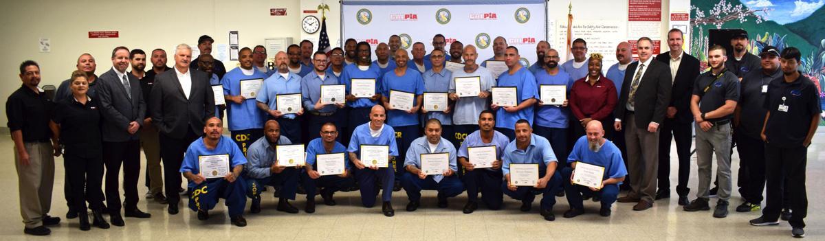 CalPIA hosts CVSP program graduation ceremony: 34 inmates earn completion certificates