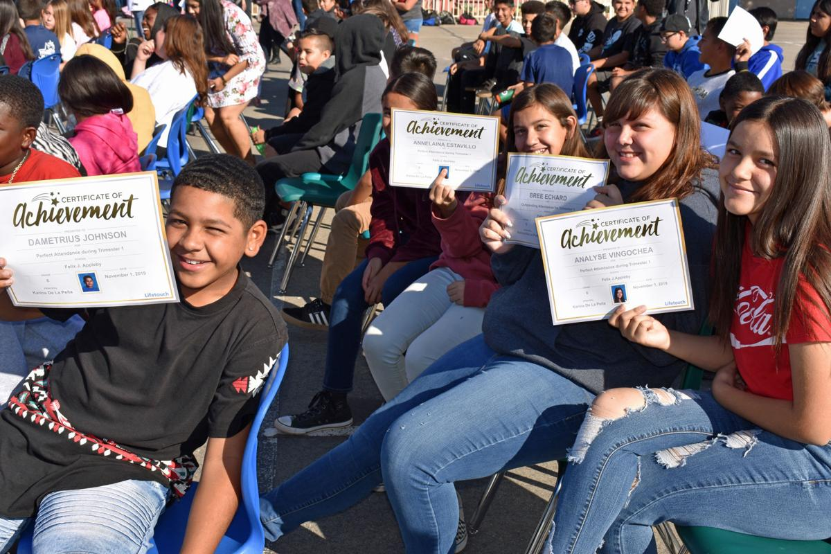 Faces & Places: Campus Life – Perfect attendance assembly at Appleby!