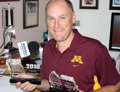 WRMJ News and Sports Director Jim Taylor received broadcasting