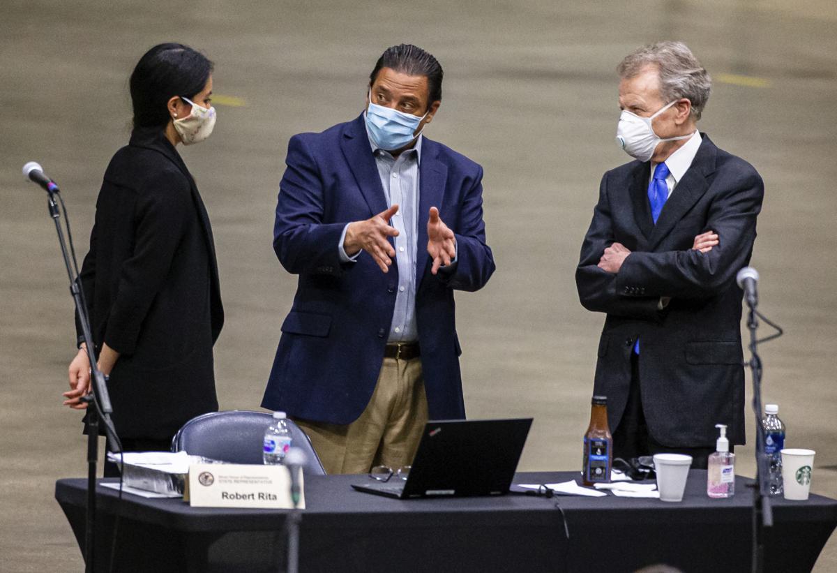 Virus Outbreak Illinois Legislature
