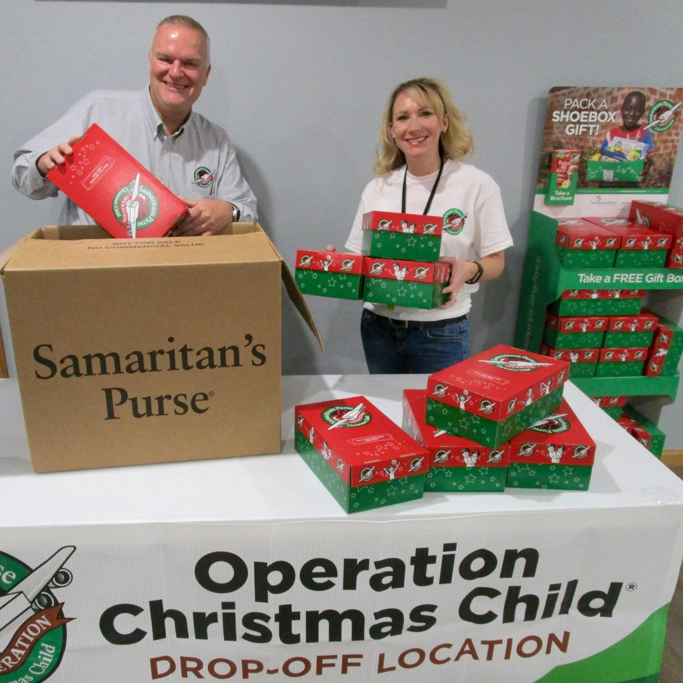 Operation Christmas Child Drop Off.Eleven Area Churches Helping With Operation Christmas Child
