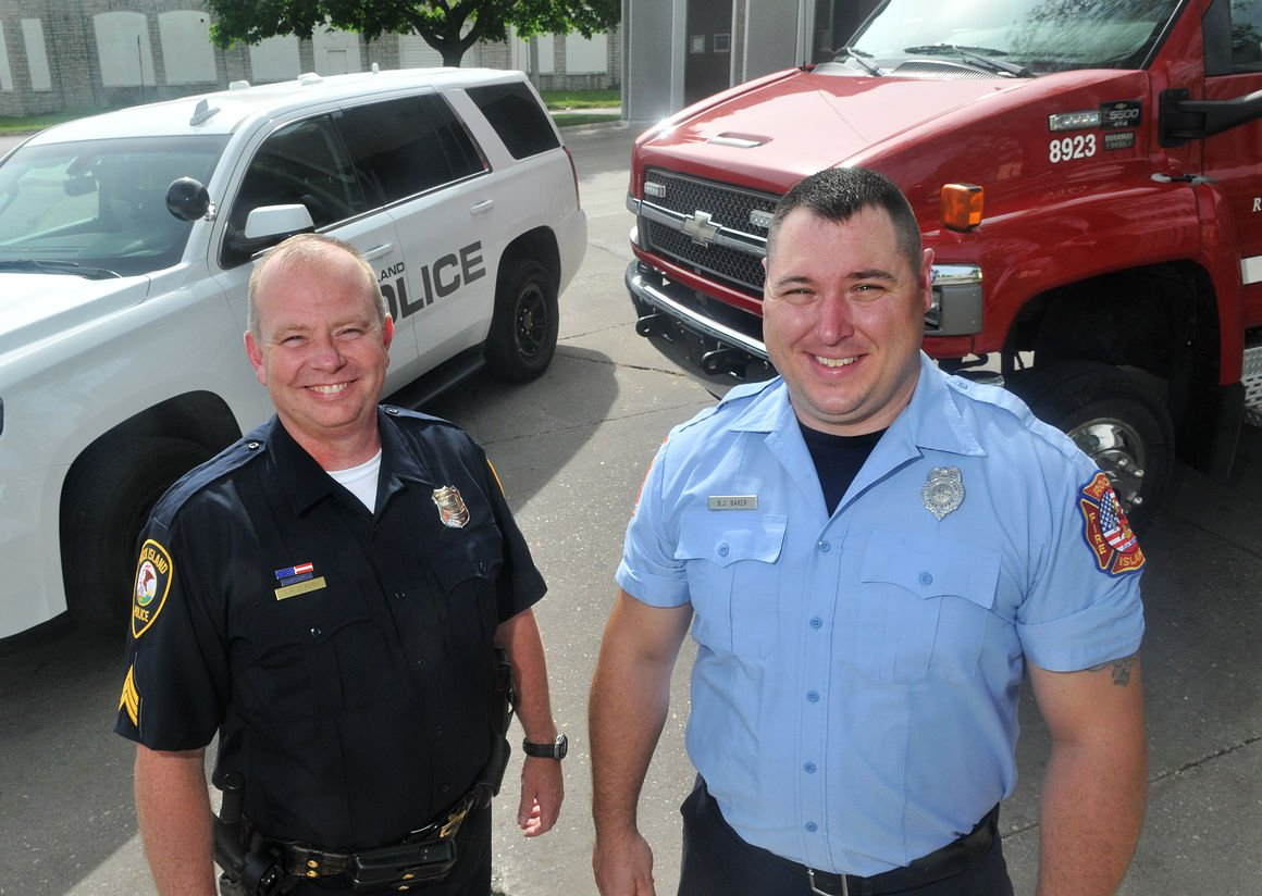 Police Officer and Fireman