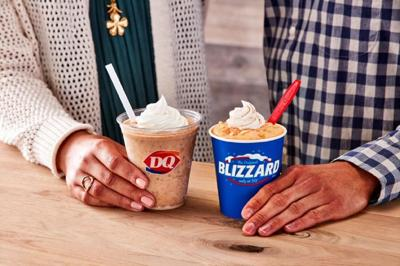 DQ Pumpkin Cookie Butter Shake, Pumpkin Pie Blizzard Treat
