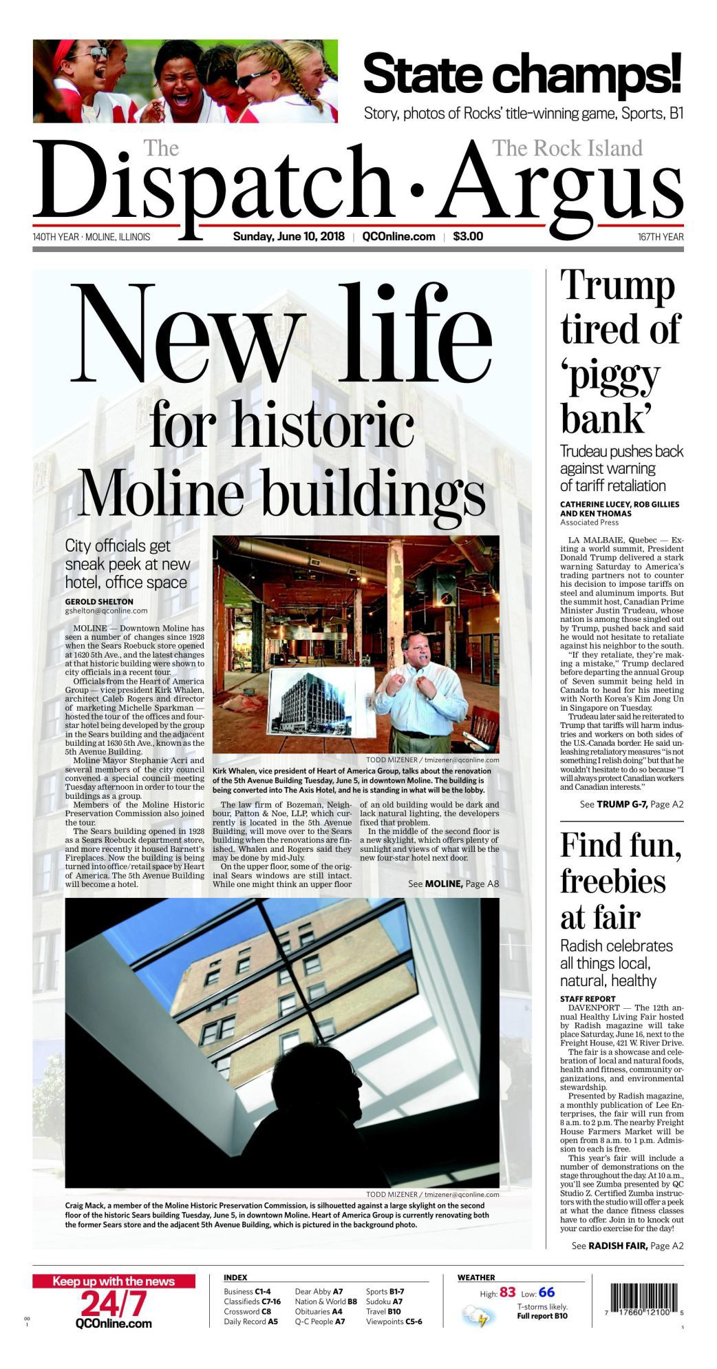 Front Page June 10, 2018