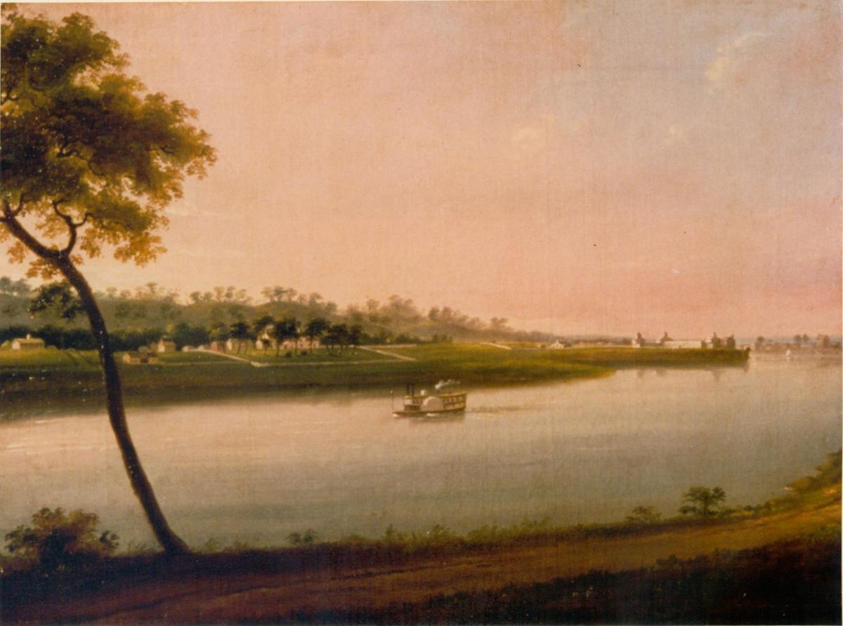 Col. Davenport House painting