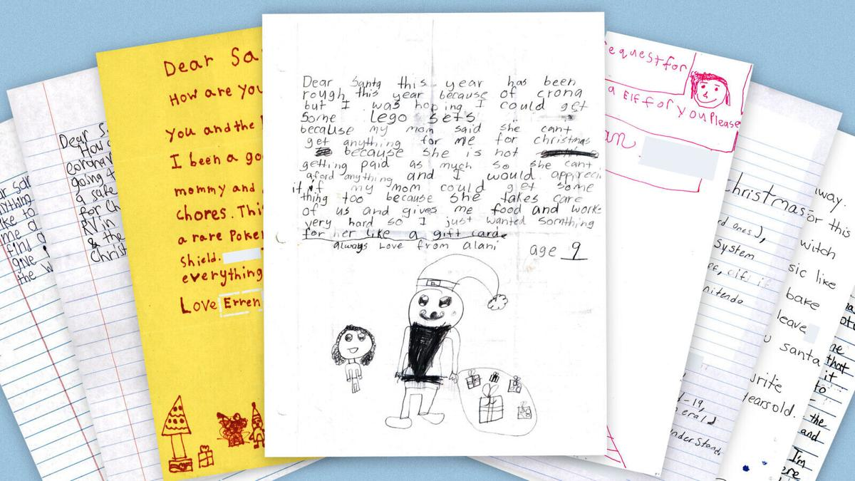 Letters to Santa reveal kids' pandemic fears