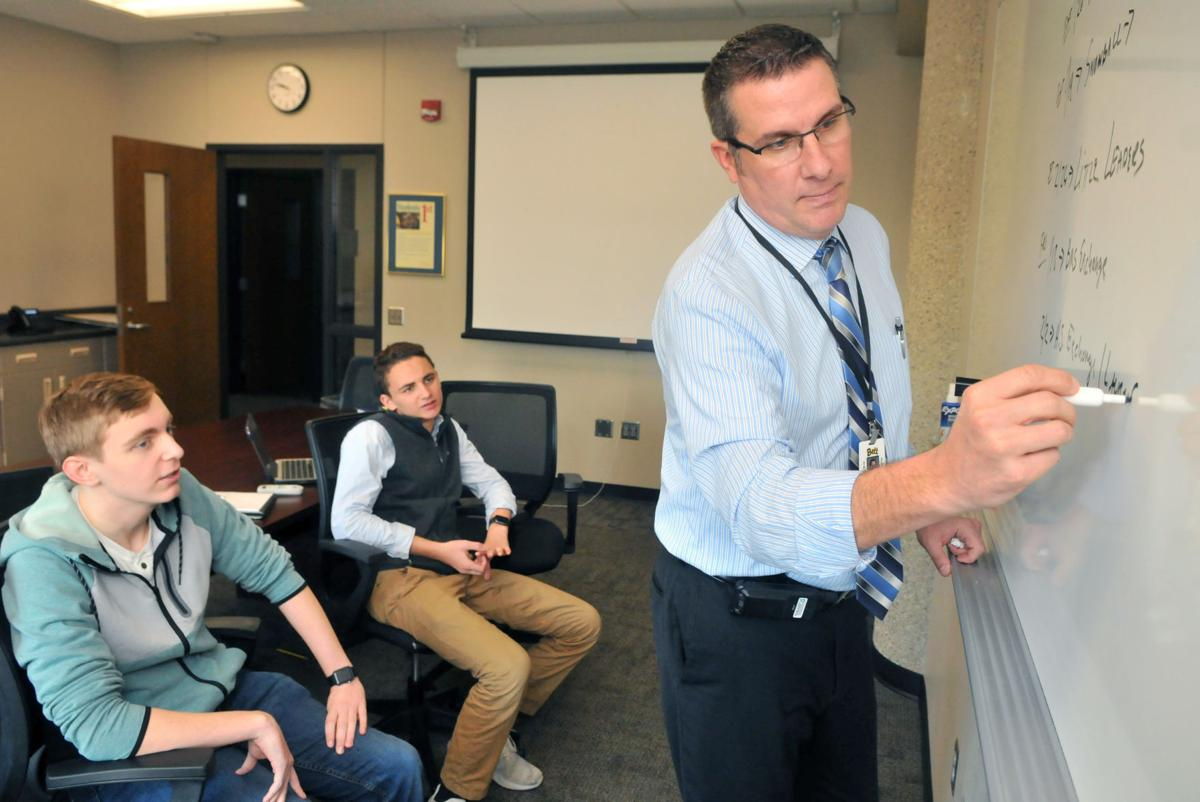 Progress: Assistant principal Kevin Skillett at Bettendorf high school