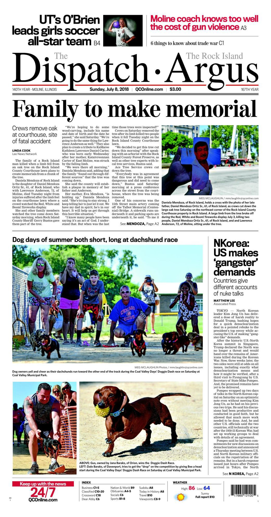 Front Page July 8, 2018