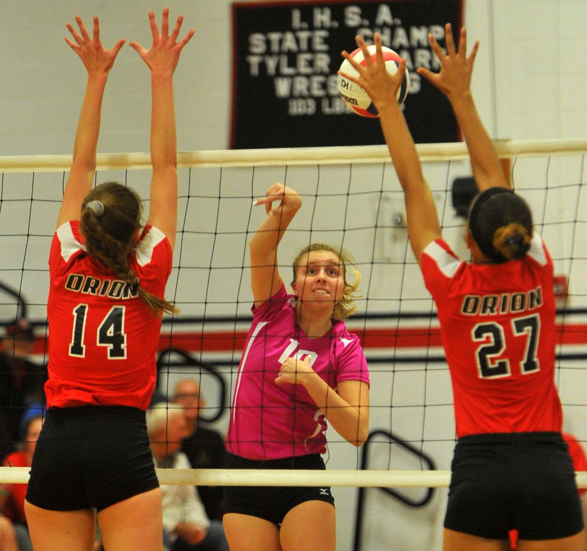 Orion vs Fulton volleyball.