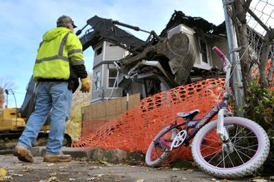 Fire-damaged RI apartment house razed