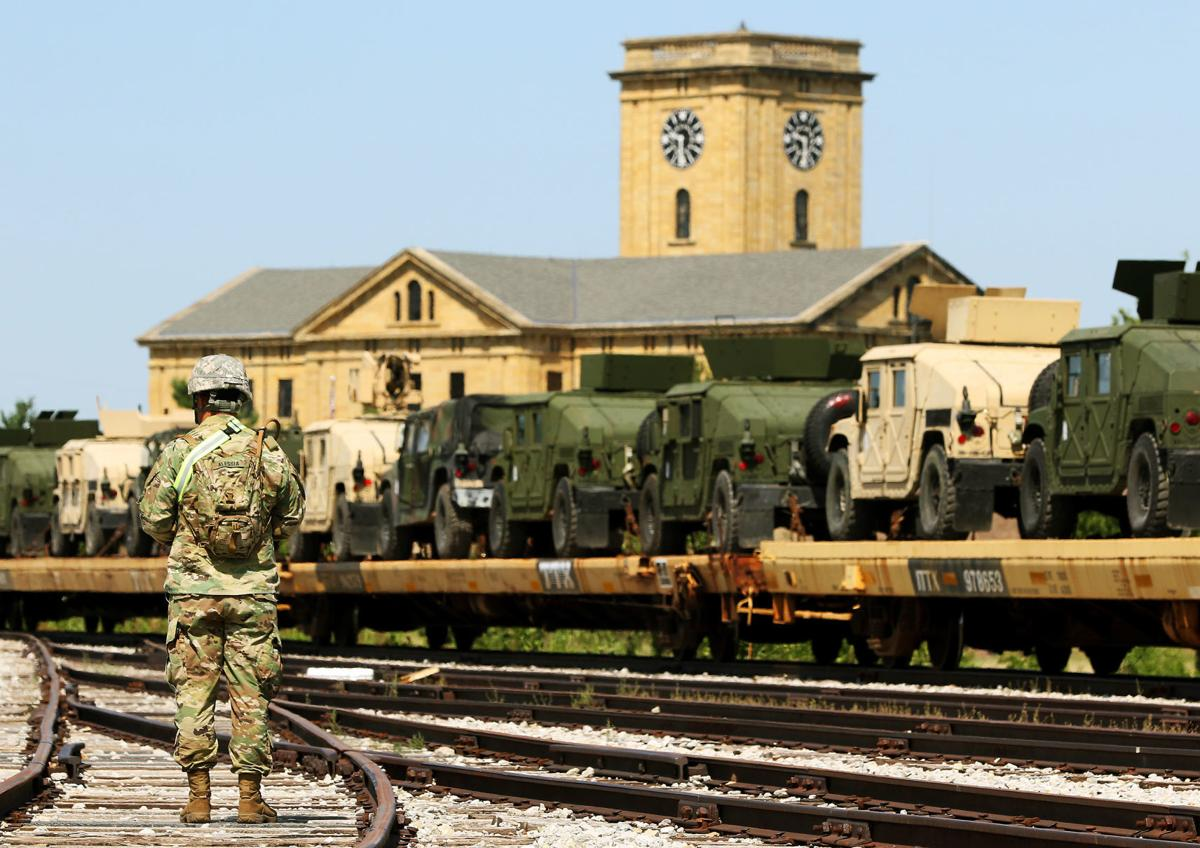 Rock Island Arsenal ships out hundreds of vehicles by rail