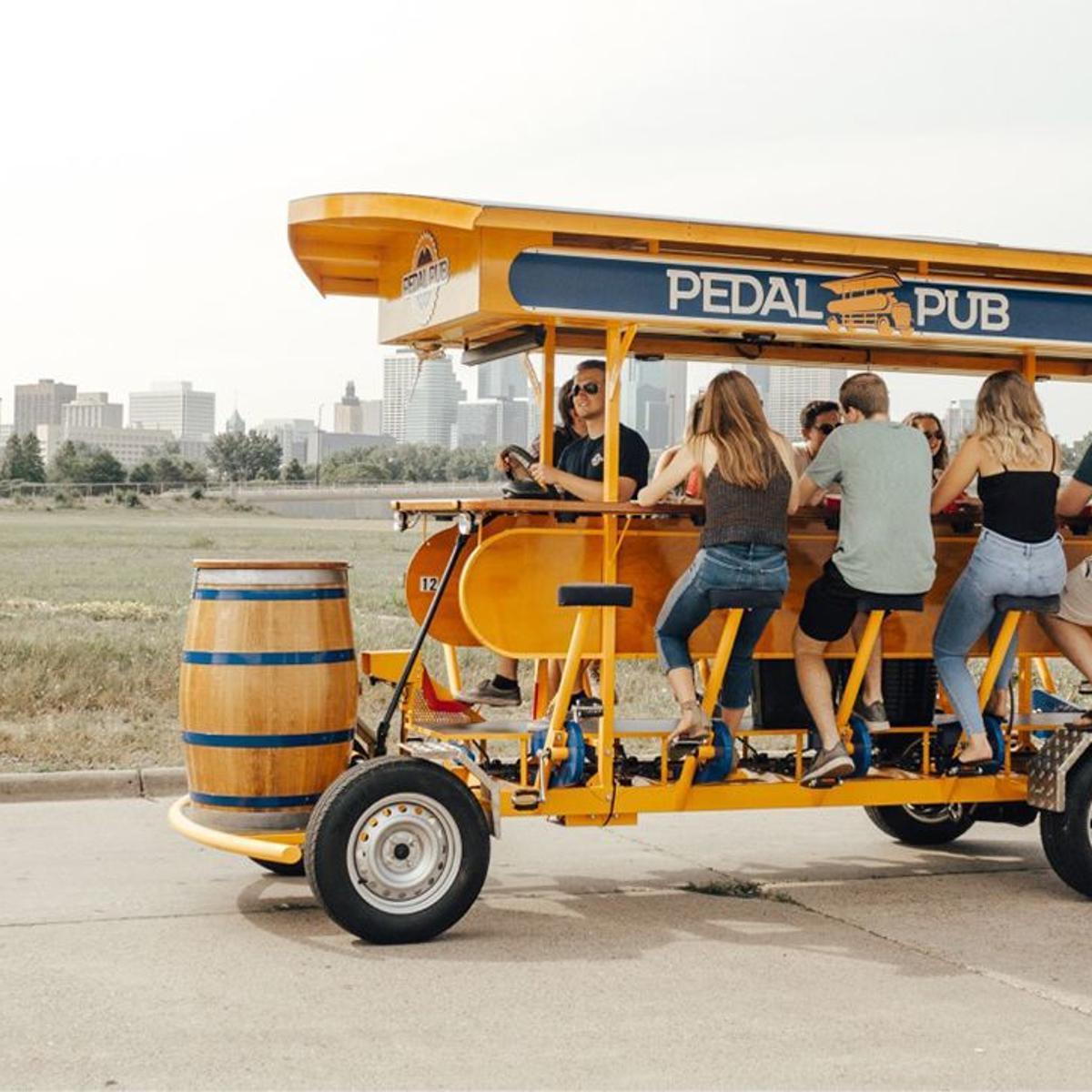 Pedal Pub is wheeling toward Quad-Cities  The 16-passenger