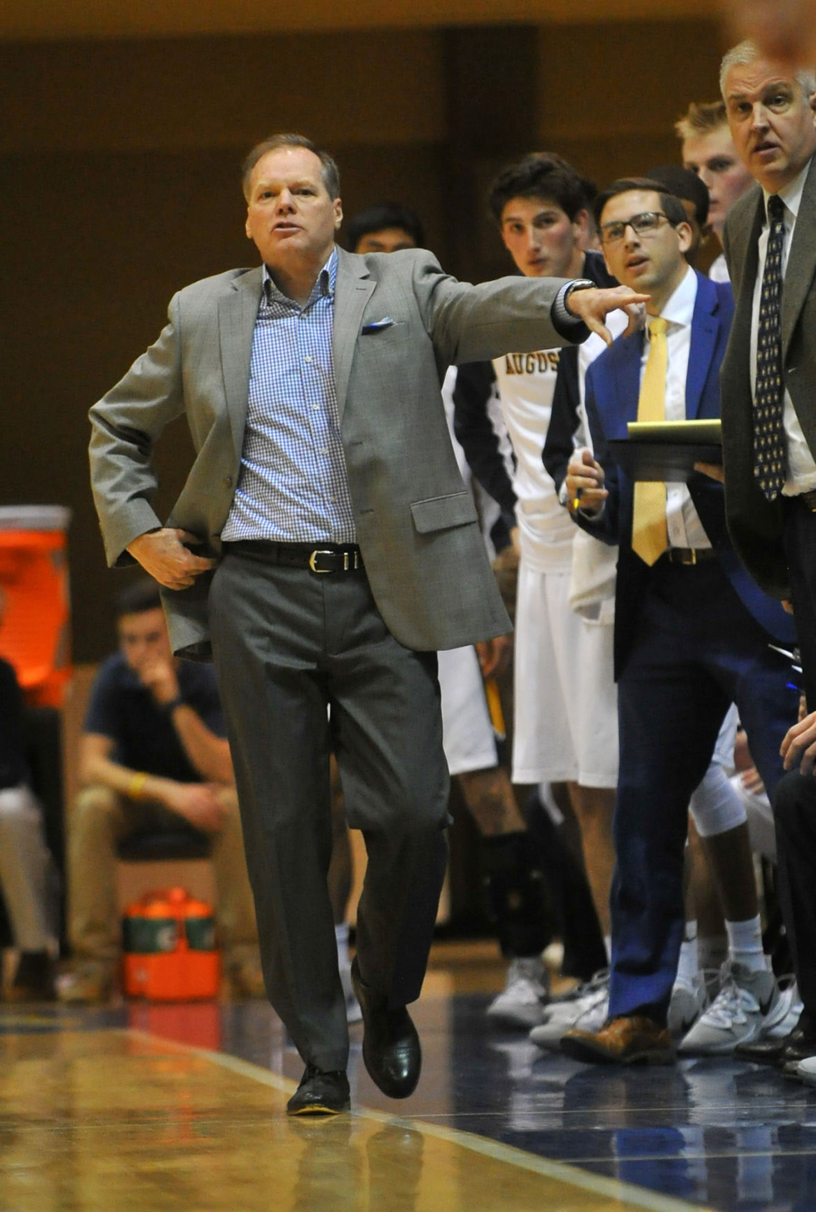 Augustana College men's basketball vs UW-Oshkosh season opener.