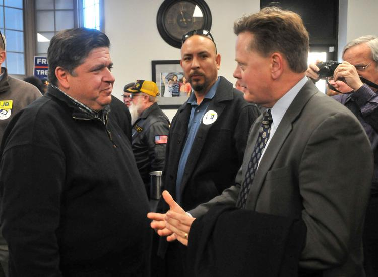 Illinois Governor-elect JB Pritzker stop at the Rock Island County Democratic office