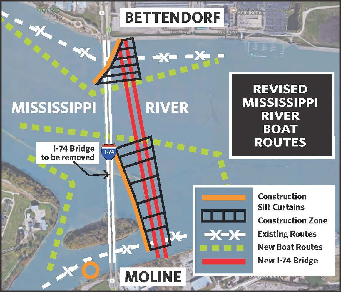 River changes start Monday for I-74 bridge work
