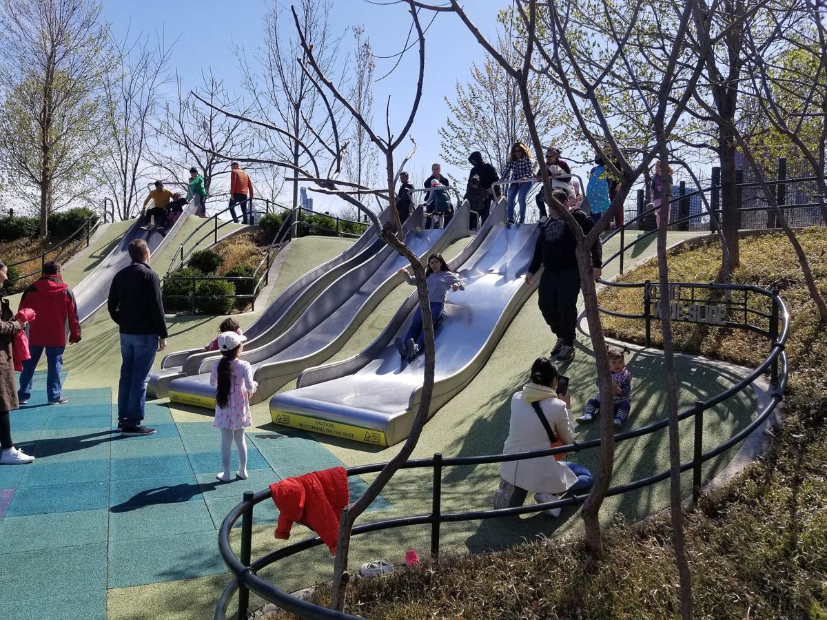LeClaire plaza slide idea