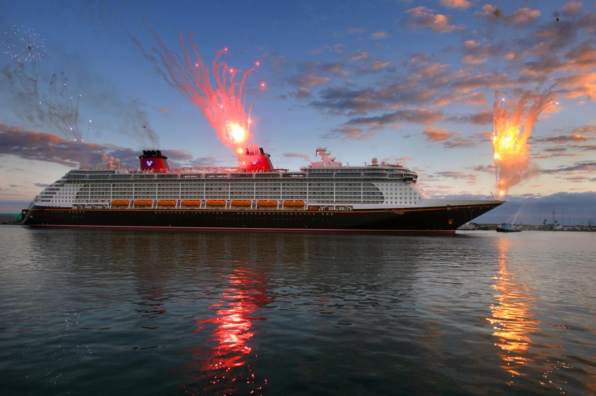 The Disney cruise ship Fantasy arrives at Port Canaveral, Fla., on March 7, 2012. Disney Fantasy, the youngest ship in the fleet, will be busy in 2020.