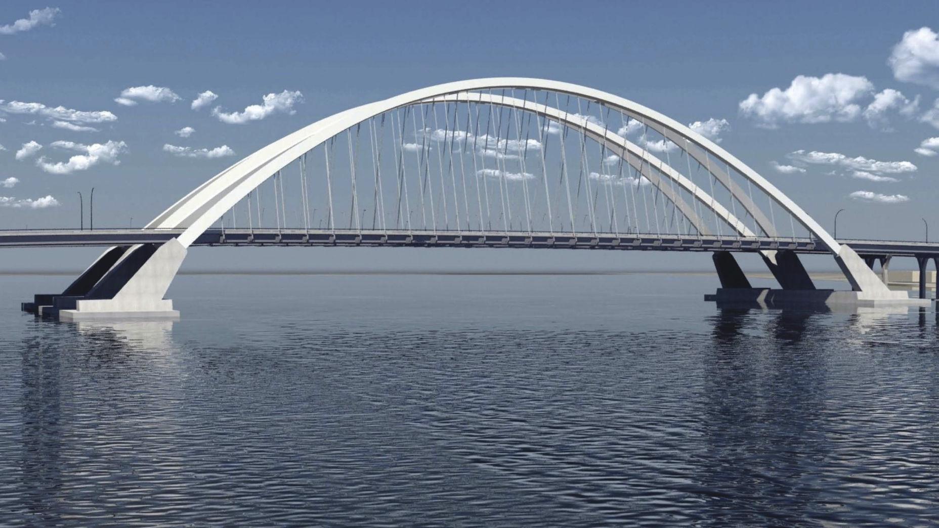 Arch Is Next Step In New I 74 Bridge Local News Qconline Com