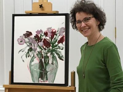 Smith Studio and Gallery, Geneseo, art exhibition of the paintings of Sara Peak Convery