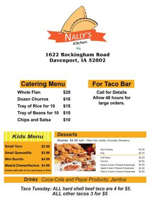 Nally's Menu1