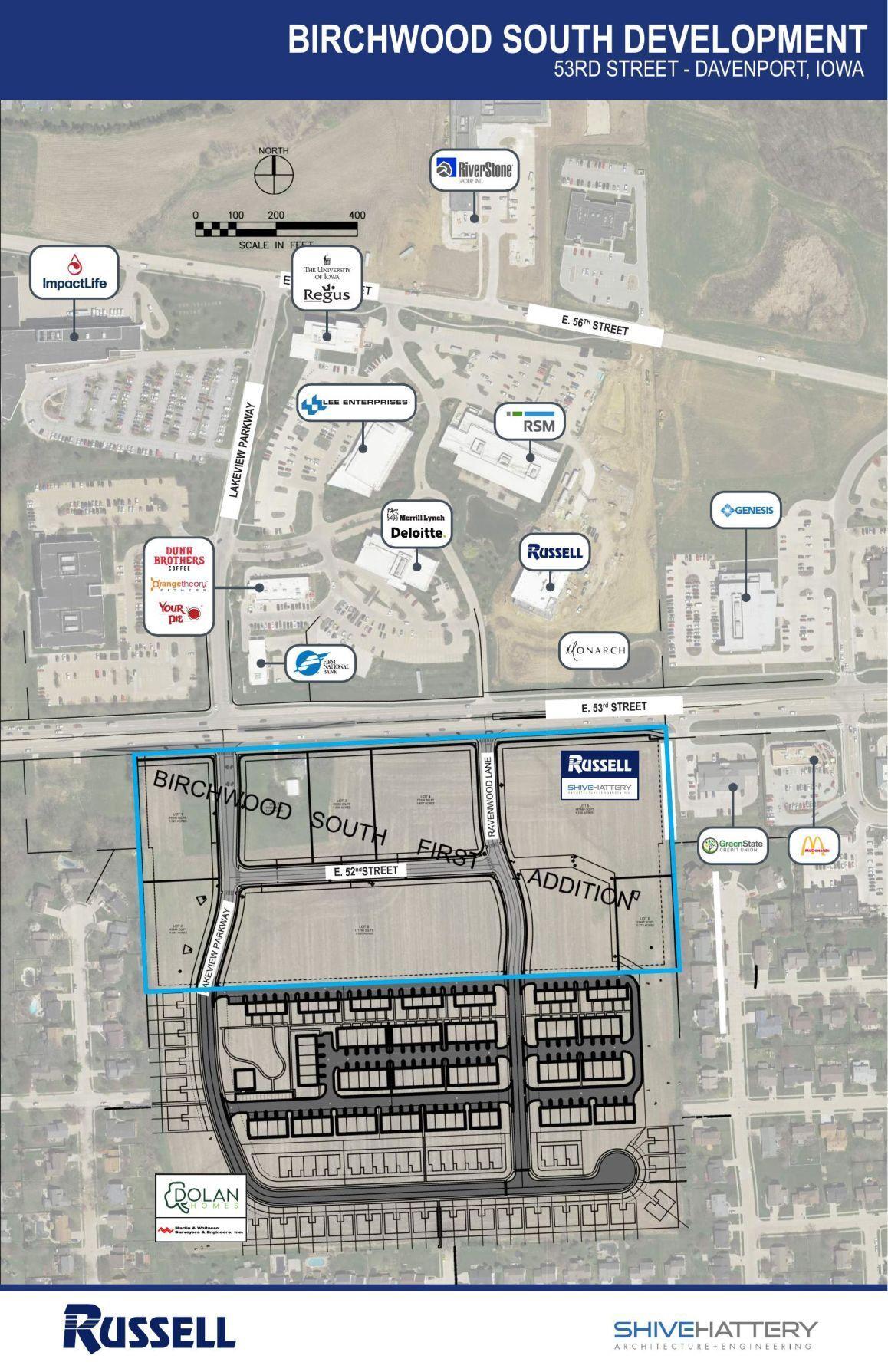 Birchwood South Development - map