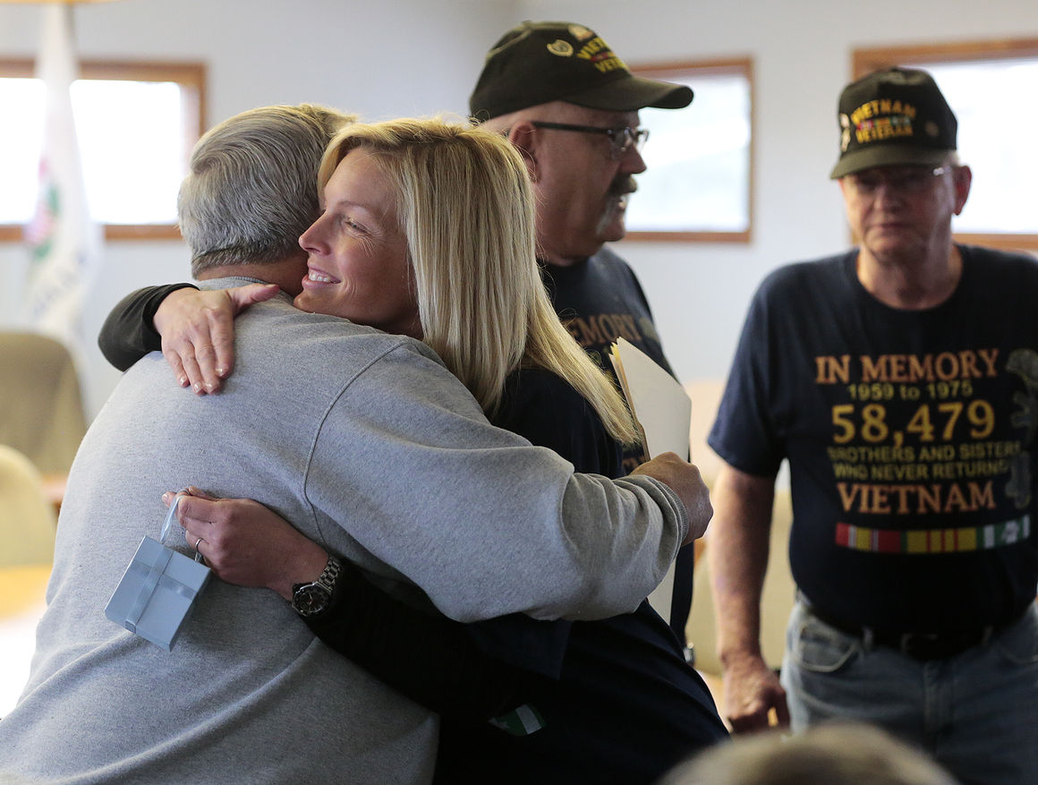 Vets thank McCombie for dad's service, senior freeze bill