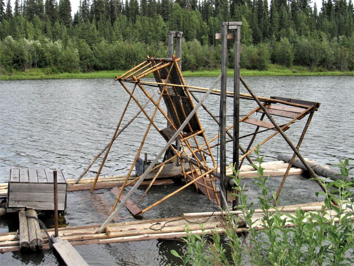 An Athabascan fish wheel