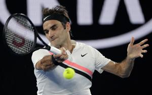 Federer in record 7th Aussie Open final after Chung retires
