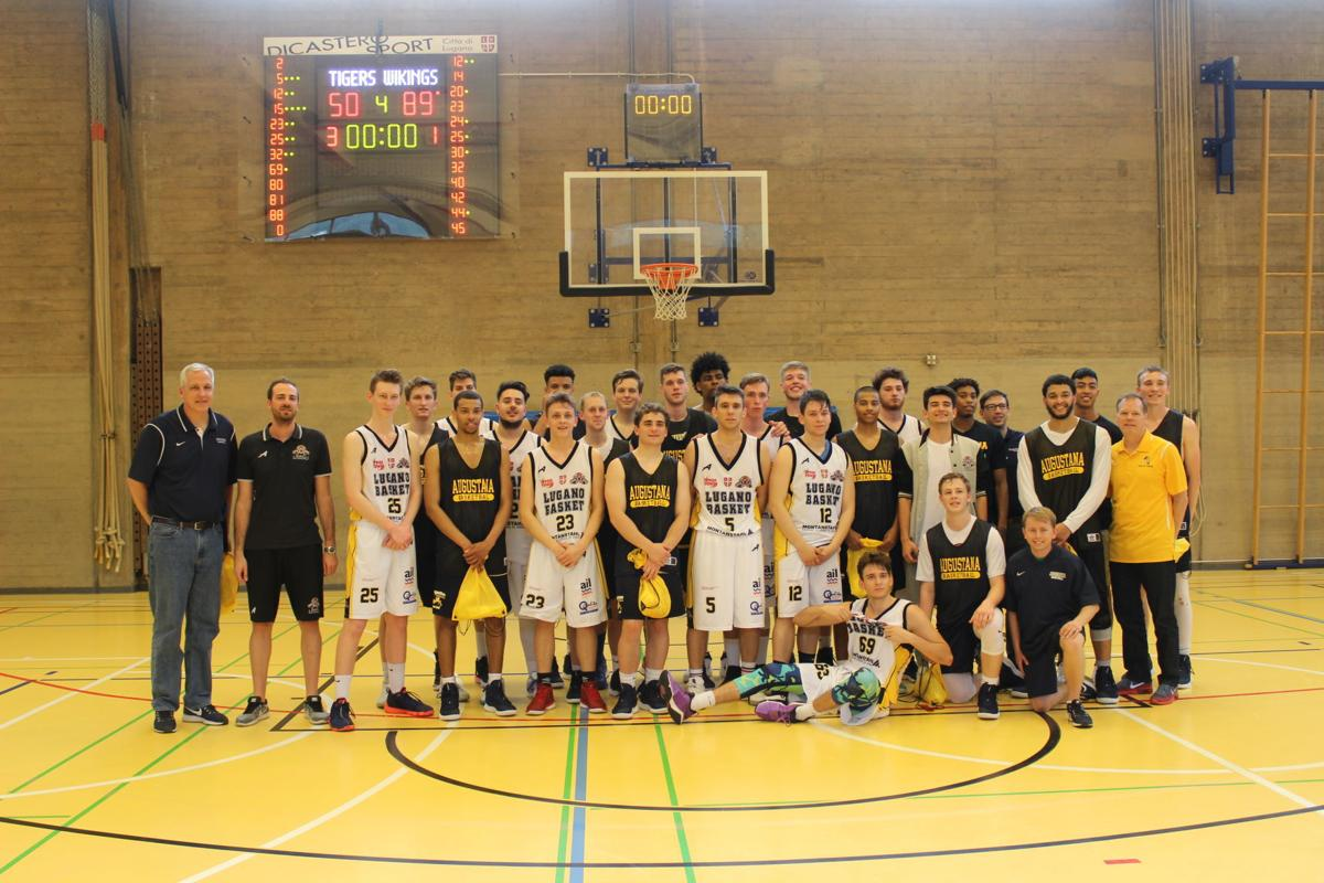 AUGIE HOOPS OVERSEAS: Vikings roll on trip's Day 1 ...