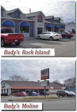 Rudy's Rock Island and Moline Locations