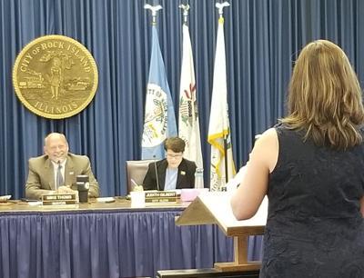 Mayor Mike Thoms and Stephanie Masson