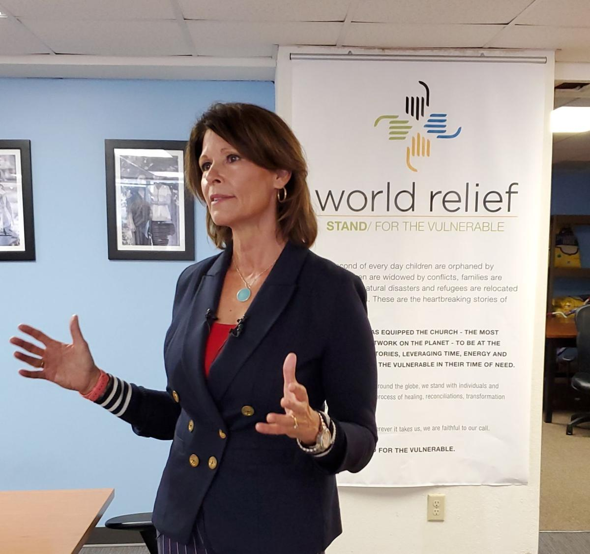 Cheri Bustos at World Relief