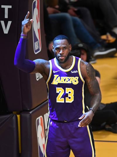 The Los Angeles Lakers' LeBron James will be the team's starting point guard next season.