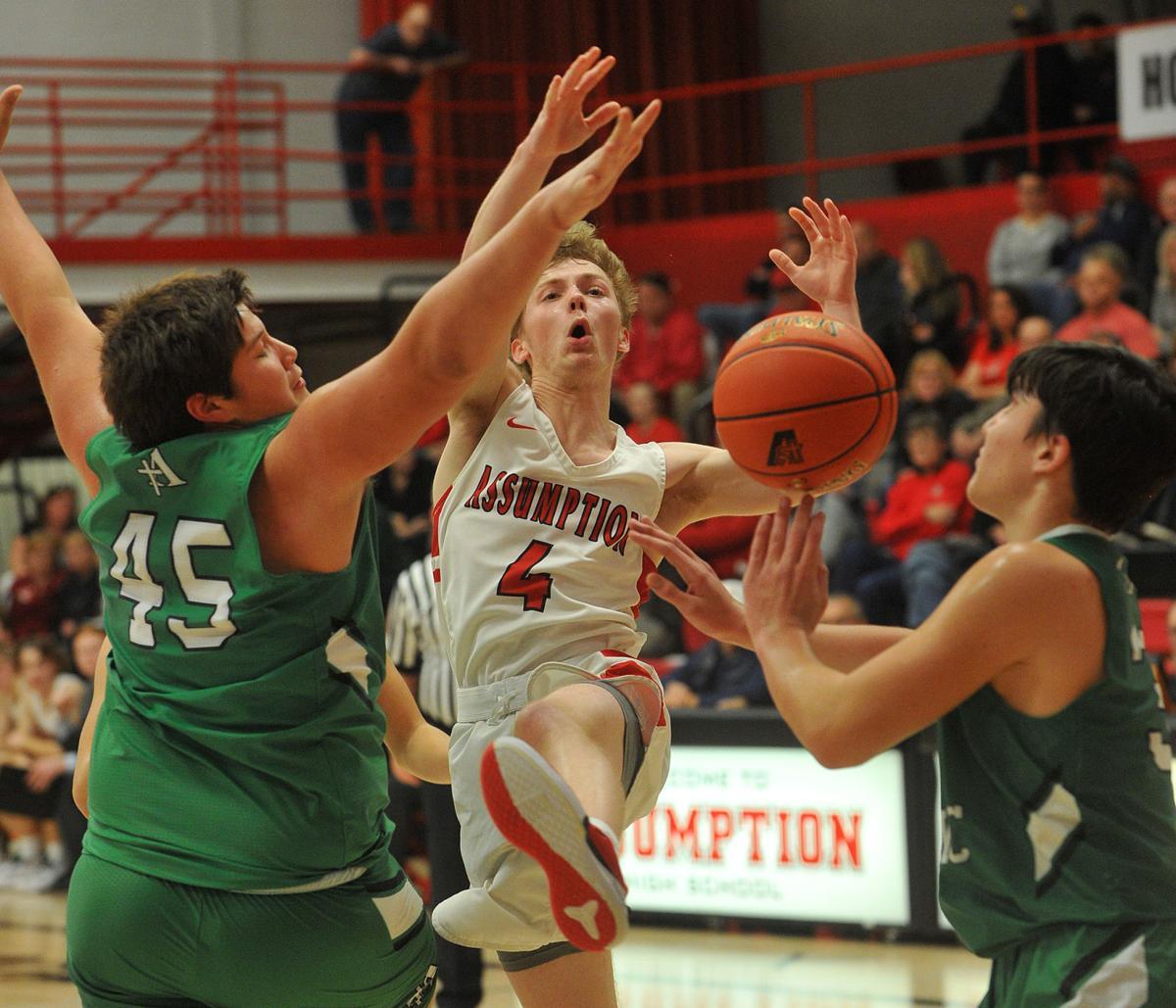 Alleman at Assumption boys basketball