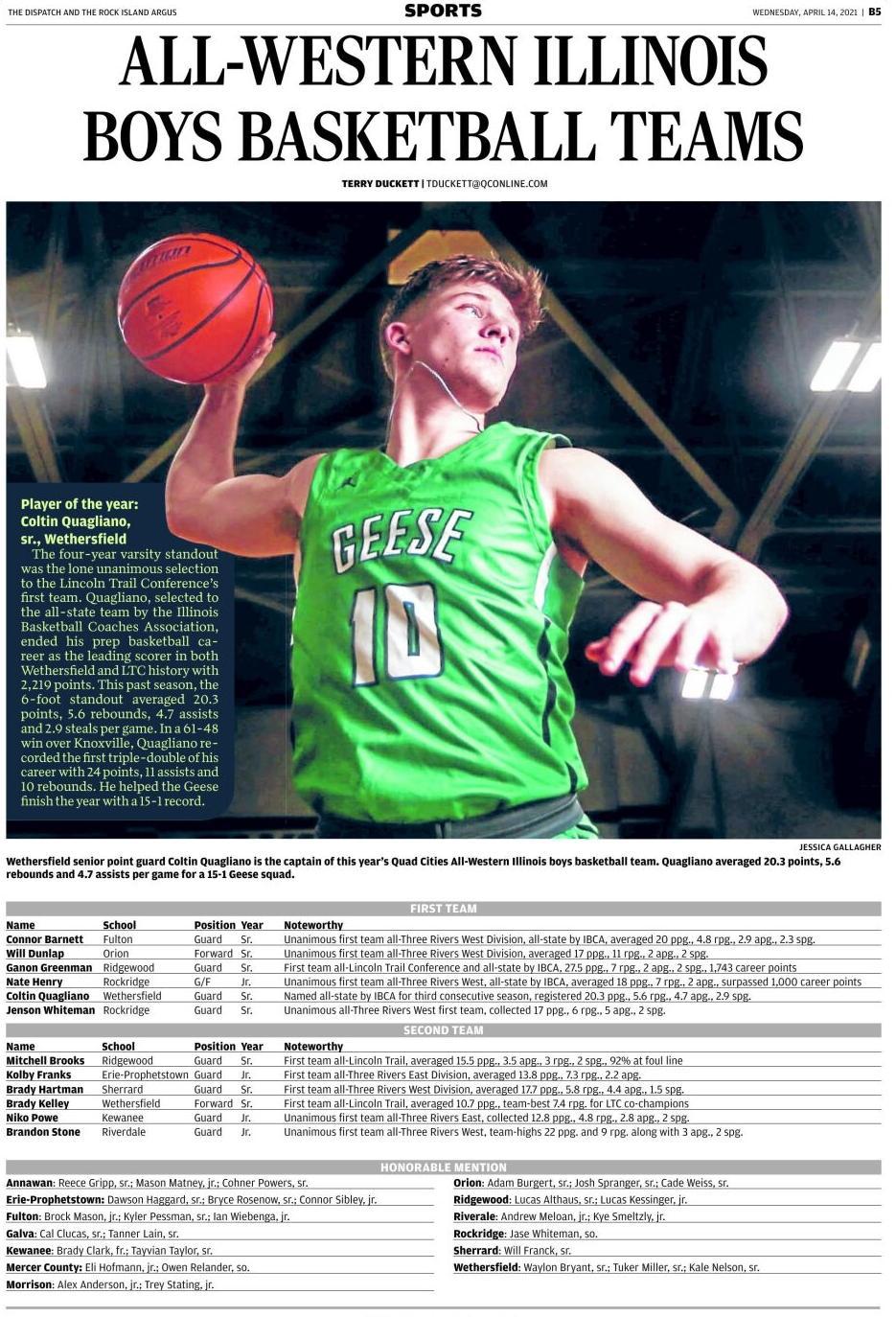 2021 All-Western Illinois Boys Basketball